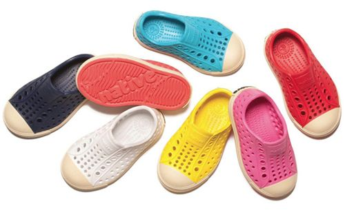cool shoe for beach/summer wear. same material as crocs (i think), but easier/safer for a child to walk in than flip-flops/sandals