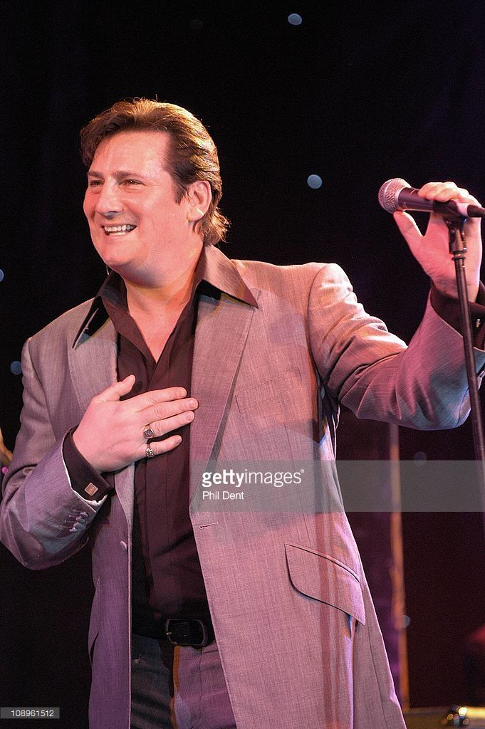 Tony Hadley performs live on stage 2004, London.