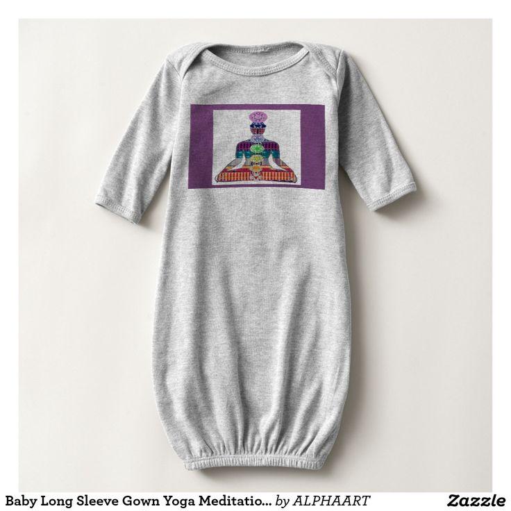 Baby Long Sleeve Gown Yoga Meditation Peace T Shirt