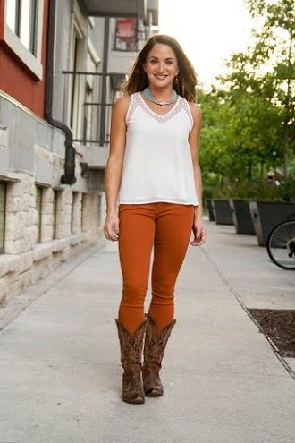 Burnt Orange Skinny Jeans   Rust Skinny Jeans