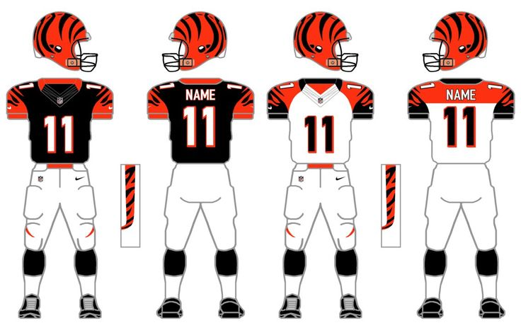 """Cincinnati Bengals. This is the 18th of many uploads for this Nike/NFL tweaking project. For those unfamiliar, the idea is to take each team's current uniform and """"tweak"""" it, but stay in the genera..."""