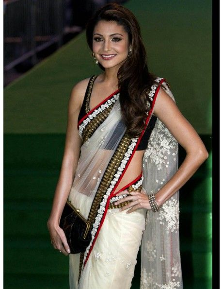 Anushka Sharma In Off White Sari Item code : SMBW10