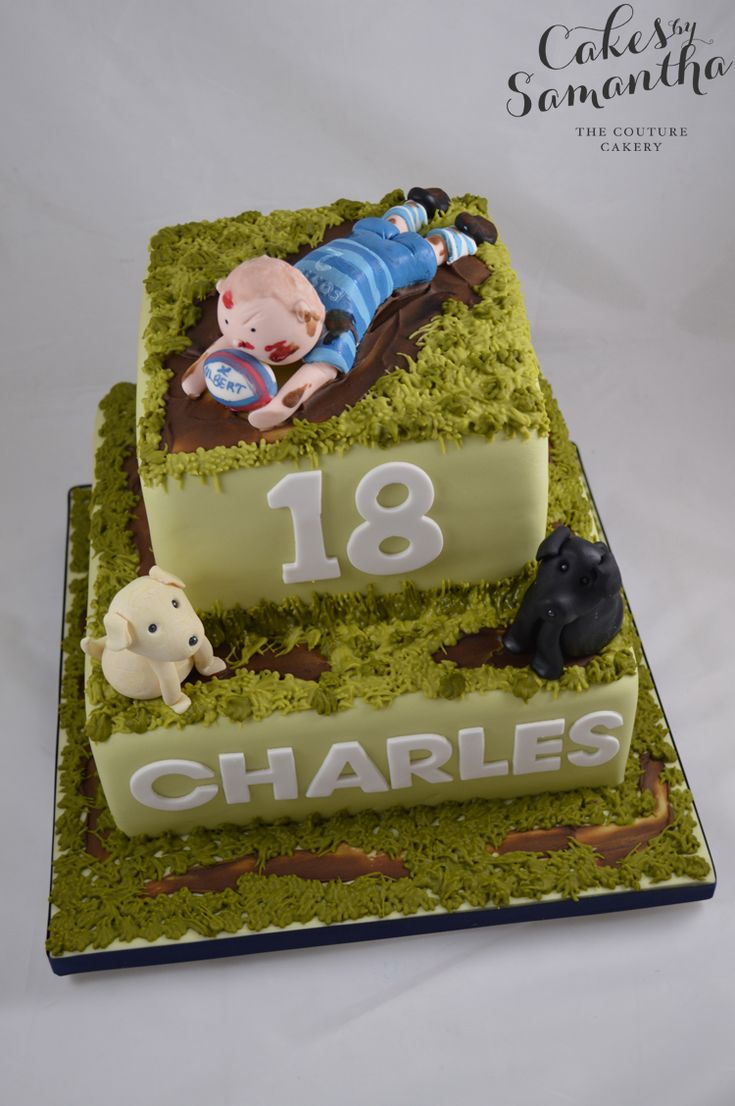 Cake Decorating Ideas Rugby : The 25 best images about Rugby Cake on Pinterest Crafts ...