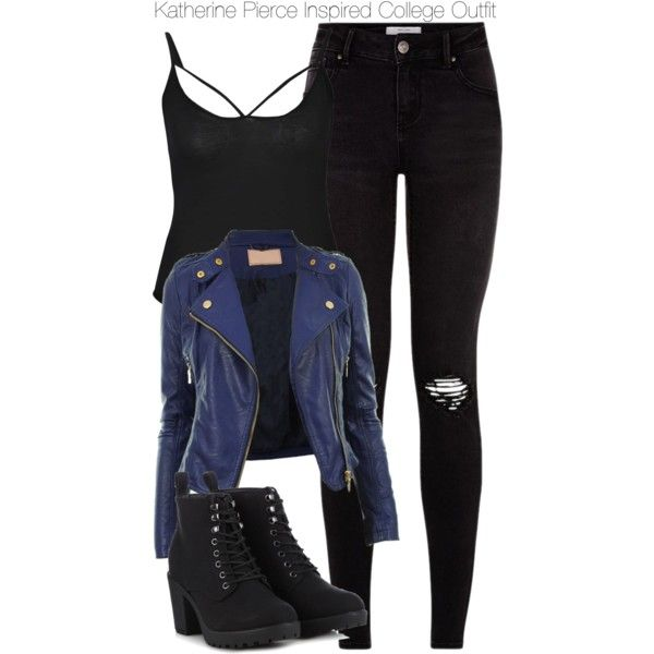 Katherine Pierce Inspired College Outfit by staystronng on Polyvore featuring polyvore fashion style Boohoo Call it SPRING college tvd KatherinePierce