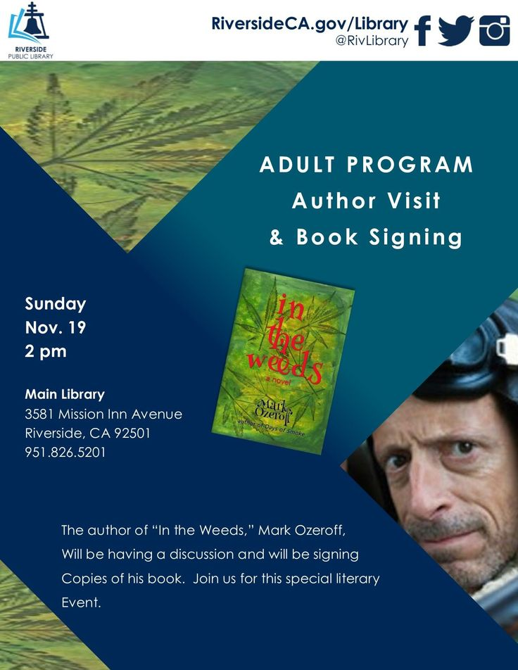 Mark Ozeroff Author Visit & Book Signing at Riverside Public Library, Sunday, November 19 at 2:00 PM - 3:00 PM https://www.facebook.com/events/285606928603758/