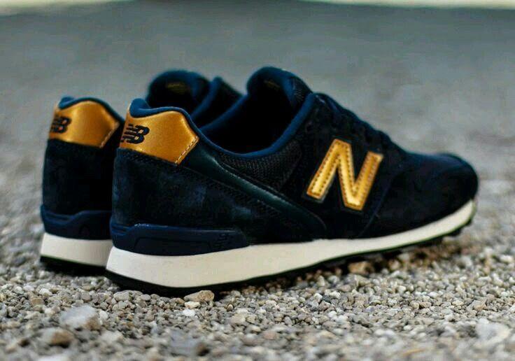 new balance navy gold