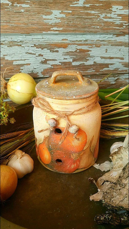 Купить или заказать 'Луковка' Банка для хранения лука и чеснока. в интернет-магазине на Ярмарке Мастеров. Баночка для хранения в деревенском стиле лука, чеснока, сушеных грибов, сухофруктов.