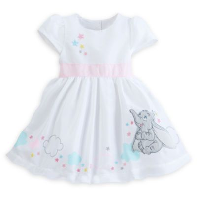 Add a touch of Disney magic to your baby's wardrobe with this dress. Featuring a wonderful design of Dumbo, stars and clouds, your baby will bring some enchantment to any party dressed in this attire.