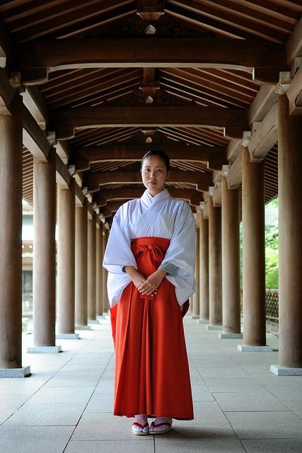 Miko. Japanese Priestess.