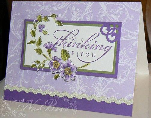 Purple Cards Close up