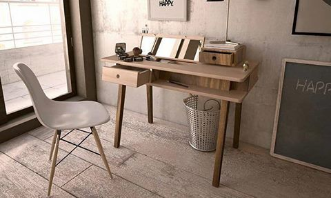 Solid wood desk #lei, office inspiration