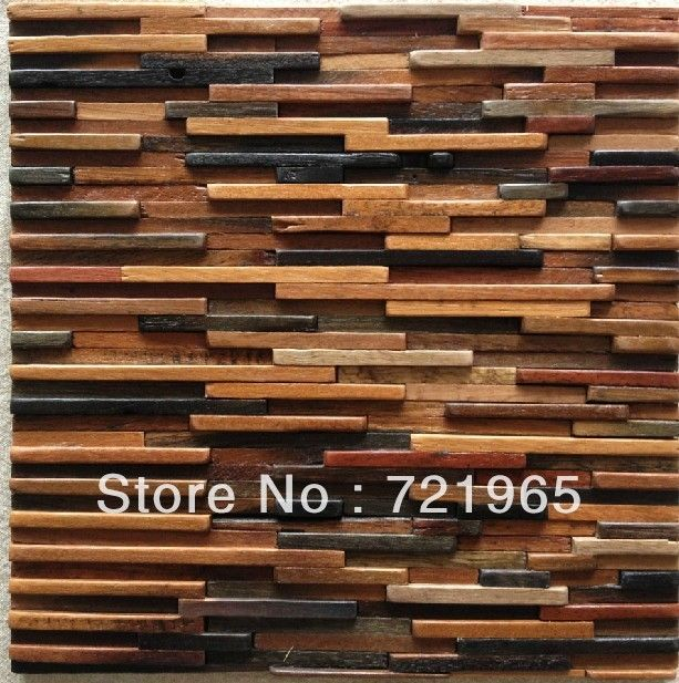 Wood Pattern Elevation : Natural wood mosaic tile d wall pattern nwmt kitchen