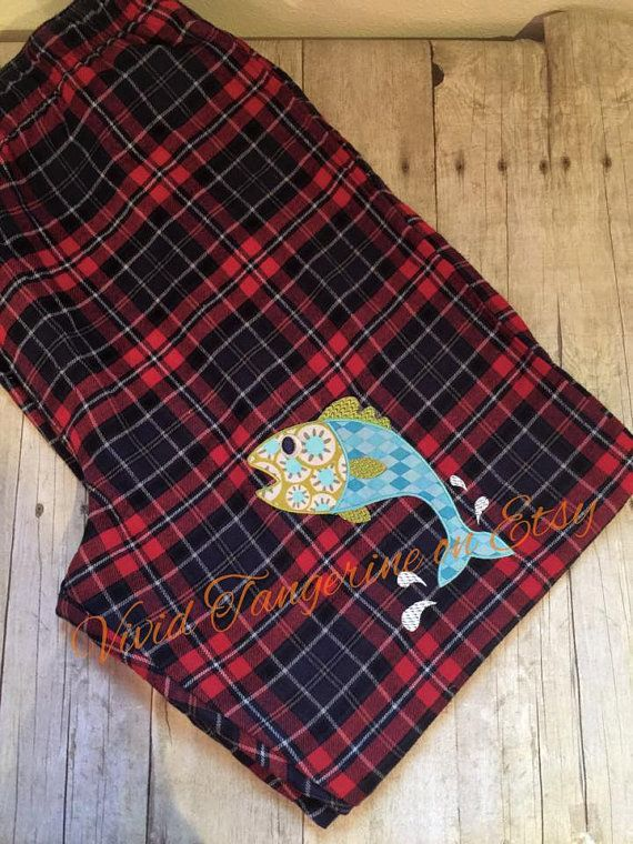 Large Fish Jumping for bait Mens lounge pajama pants