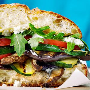 Grilled Mediterranean Vegetable Sandwiches: Grilled Veggies, Mediterranean Vegetables, Vegetable Sandwich, Veggies Sandwiches, Summer Meals, Sandwiches Recipes, Vegetables Sandwiches, Sandwich Recipes, Grilled Mediterranean