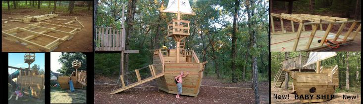 Pirate Ship Playhouse Plans- oh me oh my.  I need this forget the boys. :D