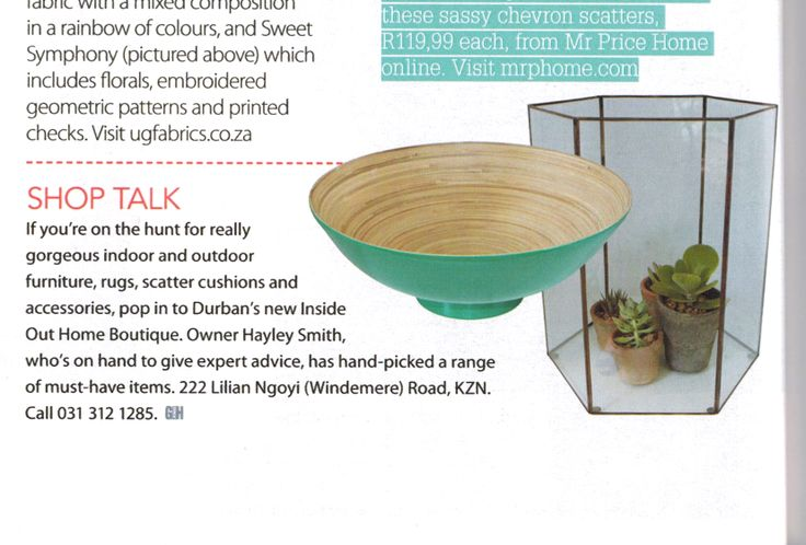 We are so excited! - Our first magazine insert in the May edition of Garden and Home.