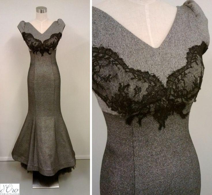 KV Couture, fashion designer Kristina Viirpalu, www.kvcouture.eu/... #kvcouture #kristinaviirpalu #grey #dress #gown #lace #tulle #details