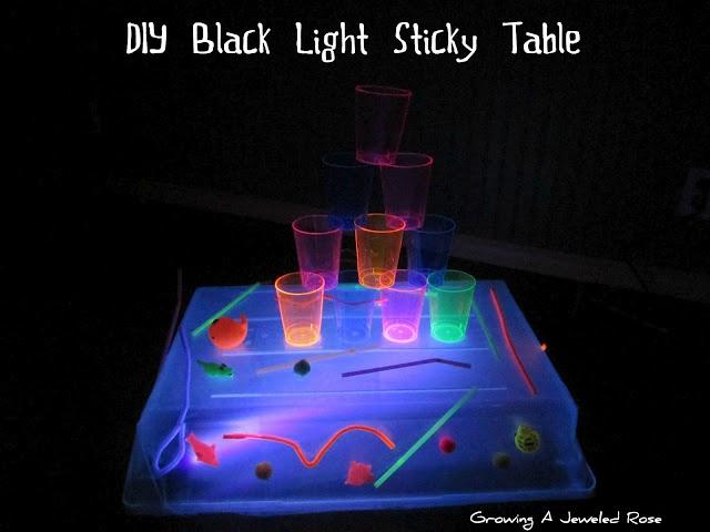 Black Light Sticky Table