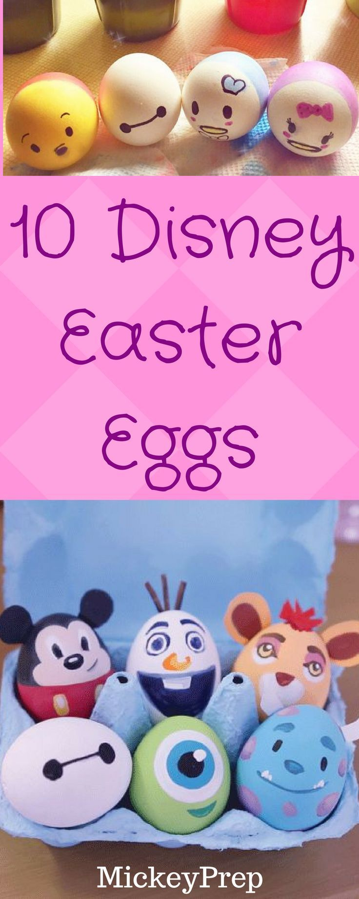 Show your Disney Side with these disney character inspired easter eggs
