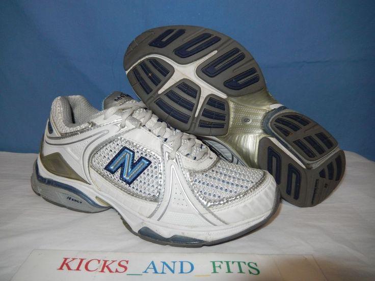 NEW BALANCE WX1011WB Women's 6.5 B WHITE BLUE Running Cross Training Shoes #NewBalance #RunningCrossTraining