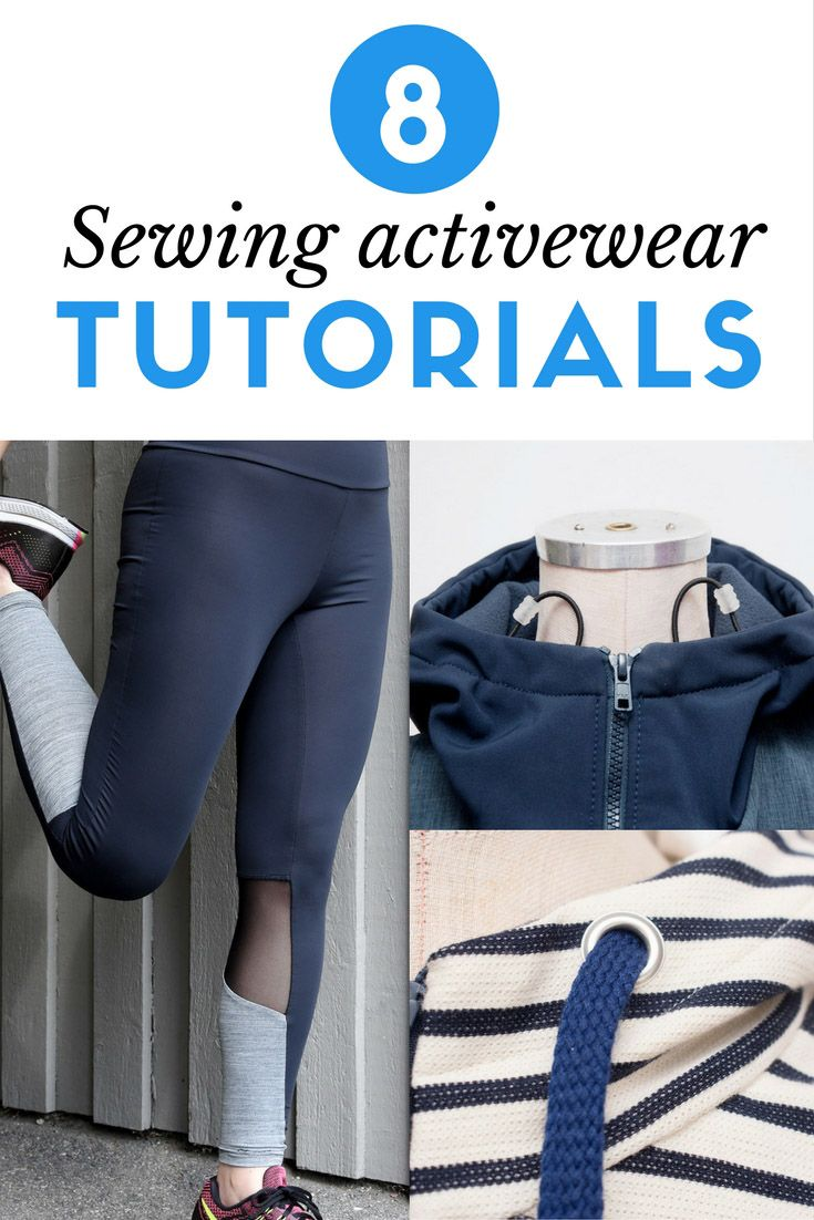 8 Tutorials On How To Sew Your Own Activewear The Last Stitch Sewing Activewear Sewing Clothes Beginner Sewing Projects Easy