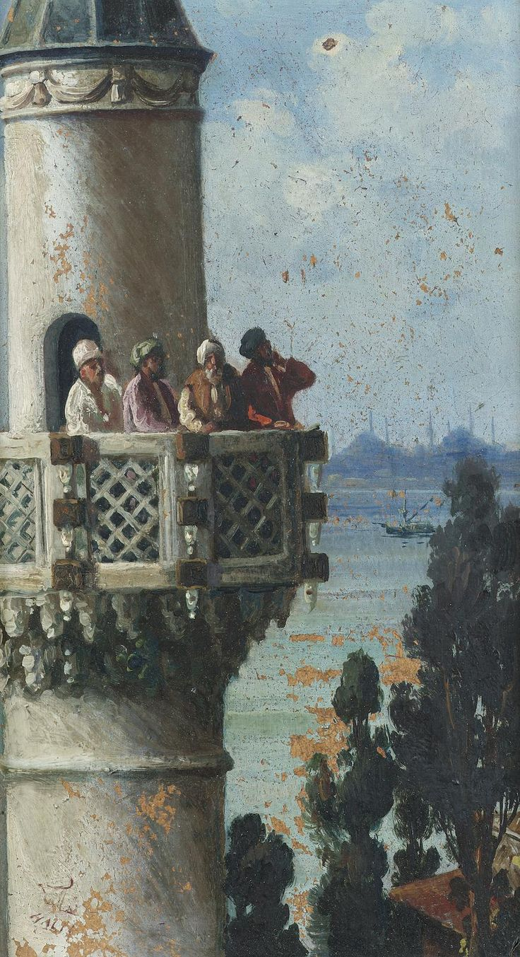 The Call of the Muezzin, Istanbul, Halil-Bey
