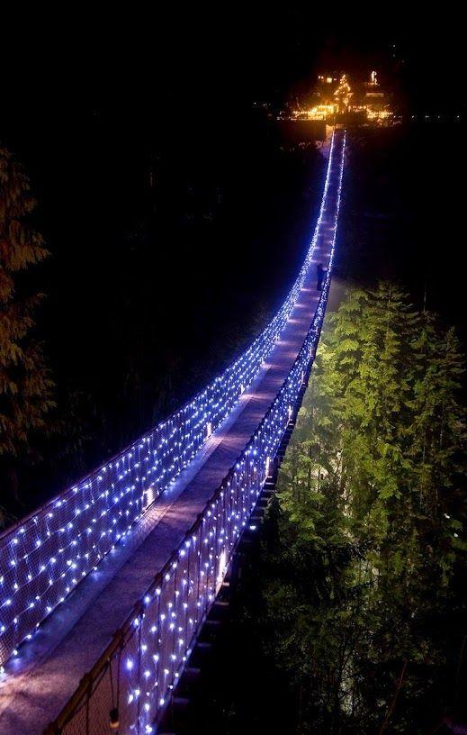 Capilano Suspension Bridge, Vancouver, Canada                    www.facebook.com/loveswish