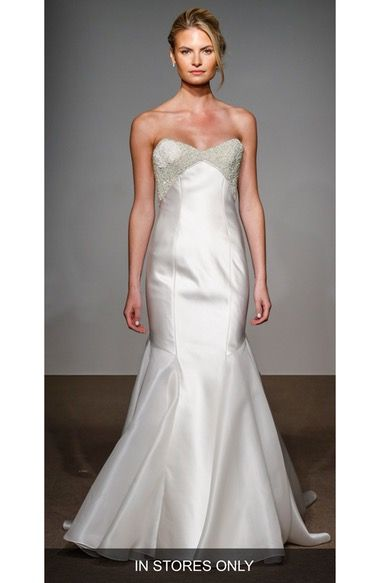 Main Image - Anna Maier Couture Helene Strapless Silk Duchess Satin Gown (In Stores Only)