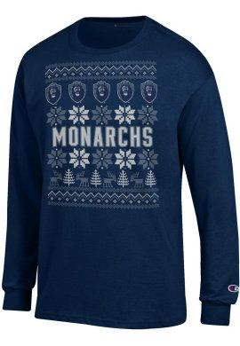Product: Old Dominion University Ugly Sweater Long Sleeve T-Shirt