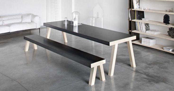 Oltre 25 fantastiche idee su tavolo in ferro su pinterest - Cavalletti in legno per tavoli ...