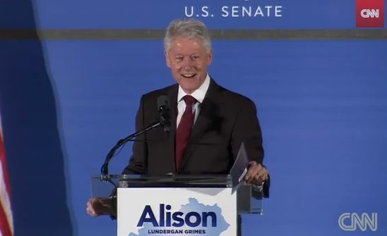 Bubba Clinton Coaxes Democrat Audience to Say Next Election, 'Give Us Back Our Country!' You can bet your ass we'll do exactly that by NOT electing Clinton