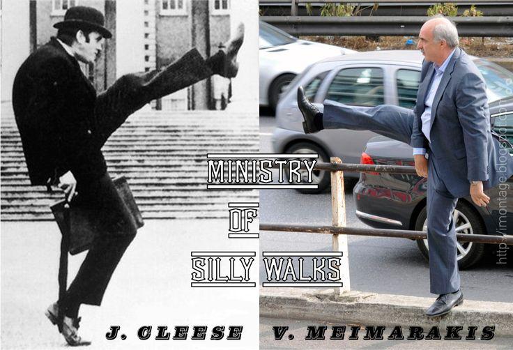 Ministry of Silly Walks!  Η Νέα Ταινία με πρωταγωνιστές τον John Cleese και τον Ευάγγελο Μεϊμαράκη! #meimarakis #silly_walks