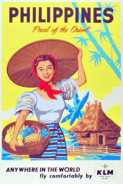 005 vintage travel philippines poster VIAJESFILIPINAS