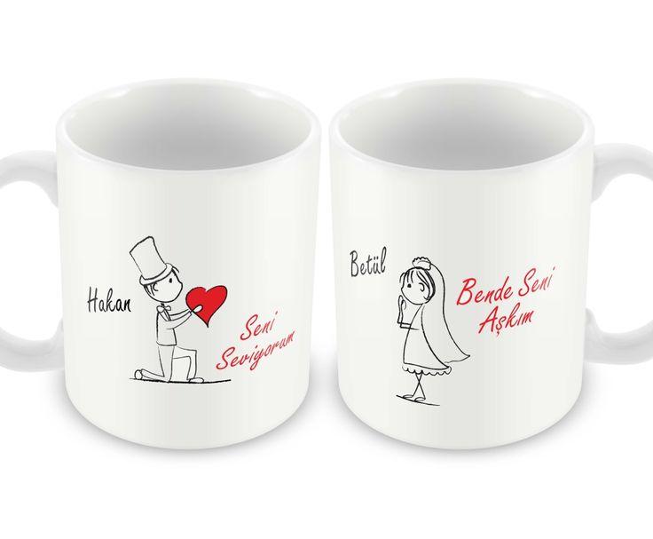 Çiftlere Özel Aşkımız Bir 2'li Kupa Bardak
