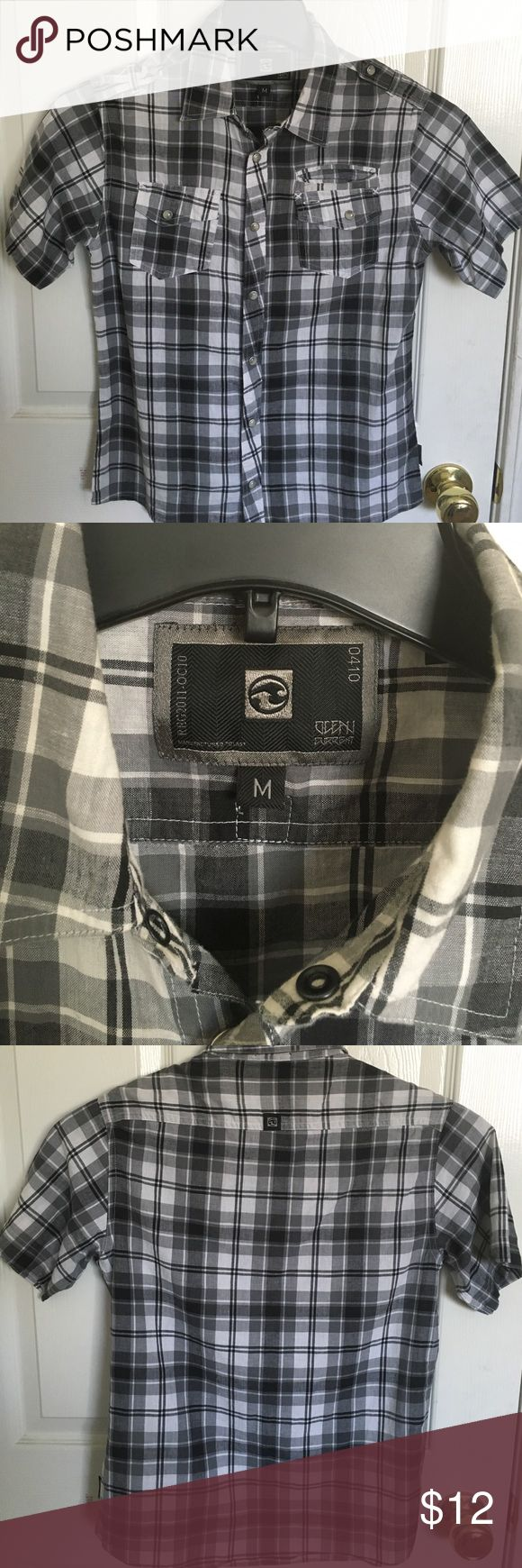 Ocean Current Snap button up shirt in good condition. 100% cotton. Ocean Current Shirts & Tops Button Down Shirts