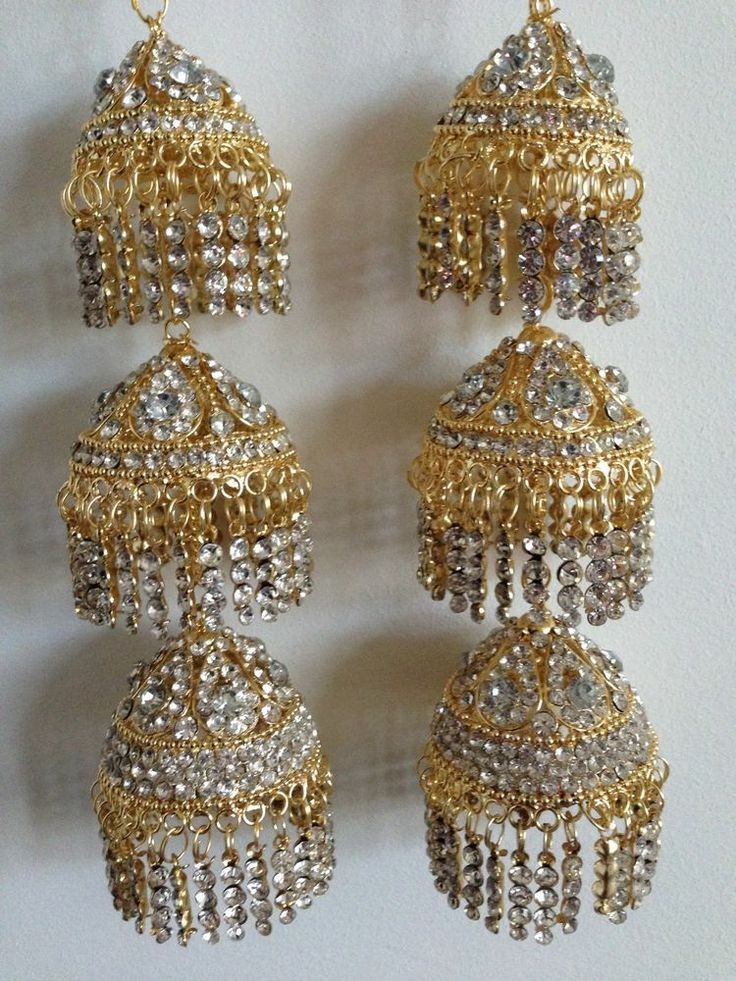 Amazing Indian Asian Wedding Bridal Kaleera Kalira - Gold with Diamonds
