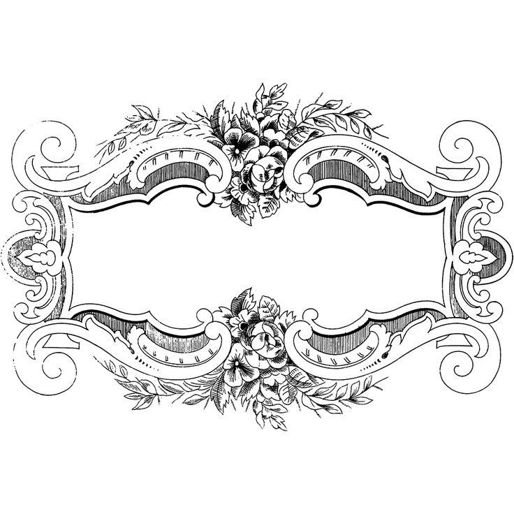 Free Clip Art - Ornate Floral Vintage Frame