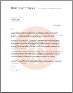 Marvelous Administrative Assistant Cover Letter | Brooklyn Resume Studio | #resumes  #career