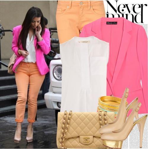 Женские ораньжевые пиджаки