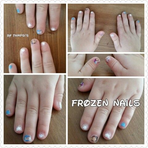 Childs Frozen nails by Tampsi's