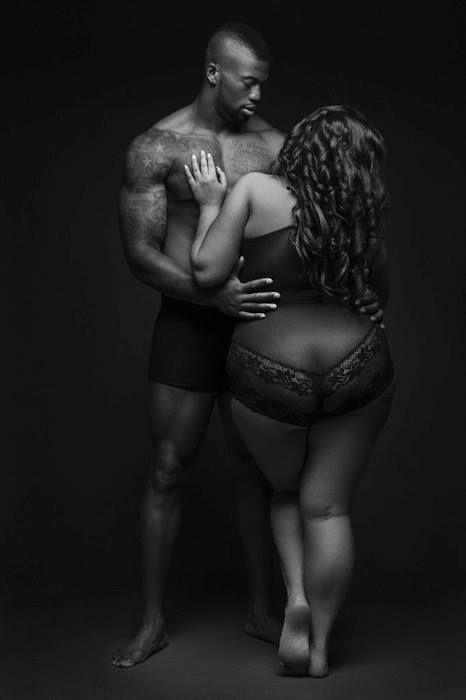 Former Atlanta Falcon's NFL'er Ray Edwards with plus size model, Tiffany Bank, forPlus Model Magazine