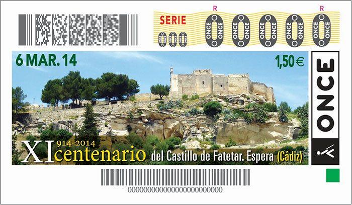 Cupón ONCE Castillo de Fatetar
