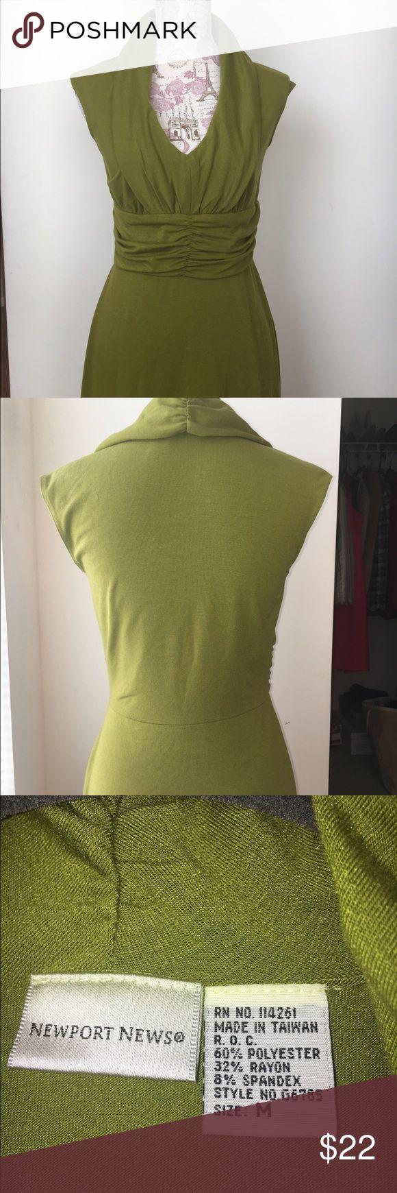 Dress Green dress polyester spandex long length not to floor fits nice! Newport News Dresses Midi