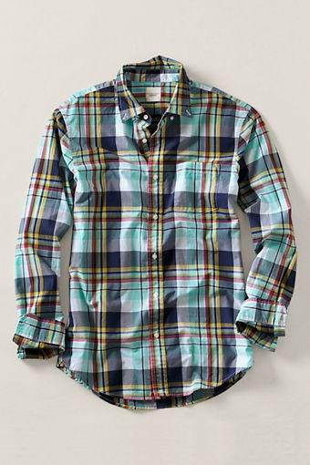 Men's Large Plaid Poplin Shirt from Lands' End Canvas: Casual Shirts, Men Style Spring Shirts, Plaid Poplin, Men Large, Land End, Poplin Shirts, Men Fashion, Plaid Shirts, Large Plaid
