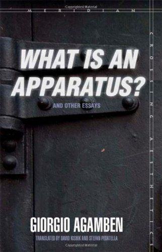 Giorgio Agamben: What is an Apparatus? And Other Essays (2006-) [IT, EN, PT] — Monoskop Log