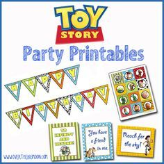 FREE Toy Story Party Printables - Bunting, 3 Printables Posters and Cupcake Toppers!