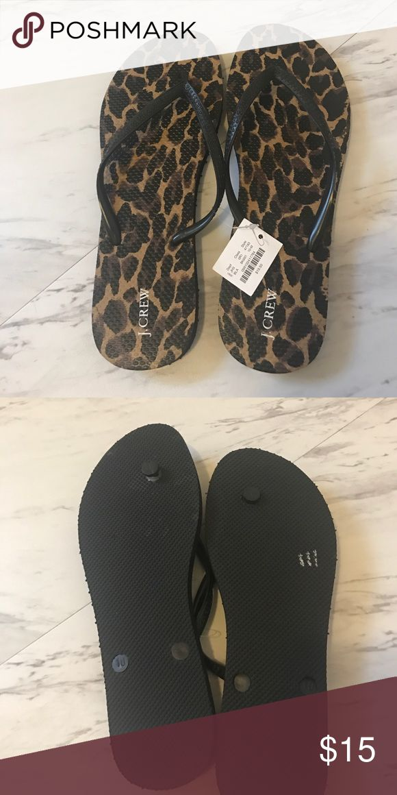 J. CREW Flip Flops New with tags, never worn! Animal print flip flops. Purchased for $19.50. J. Crew Shoes Sandals
