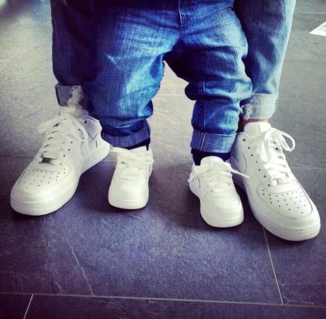 Air Force One blanche pour toute la famille !! #nike #airforceone ...
