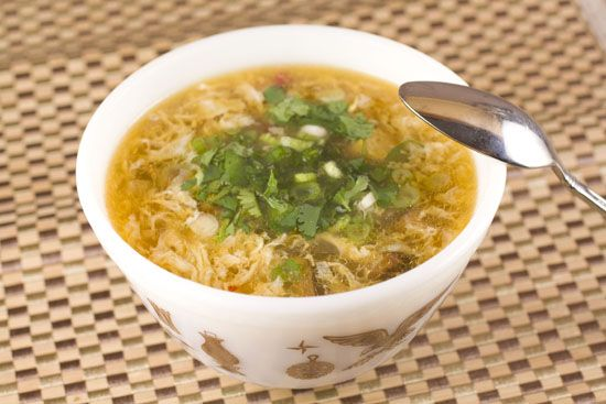 Hot and Sour Soup. Ok, not dim sum, but the recipe looks great.