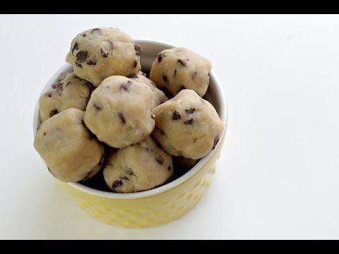 How To Make Cookie Dough Bites   No Bake Recipe - YouTube